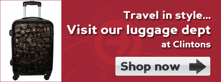 Quality & Style at the Luggage Dept at Clintons - Shop now!